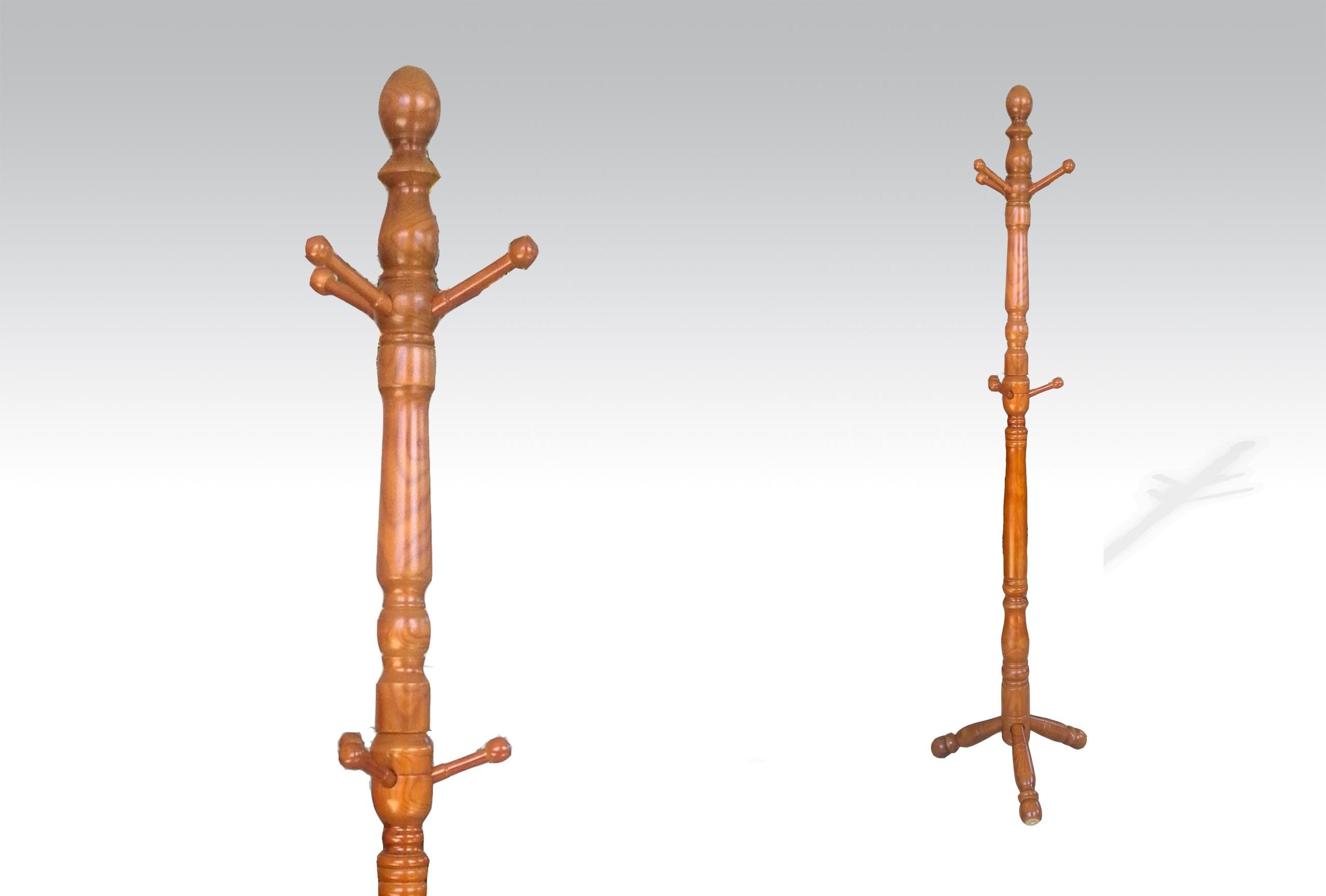 Uhome Design Standing Wood Coat, Hat, Jacket and Dress Rack/ Tree Rack-CH016