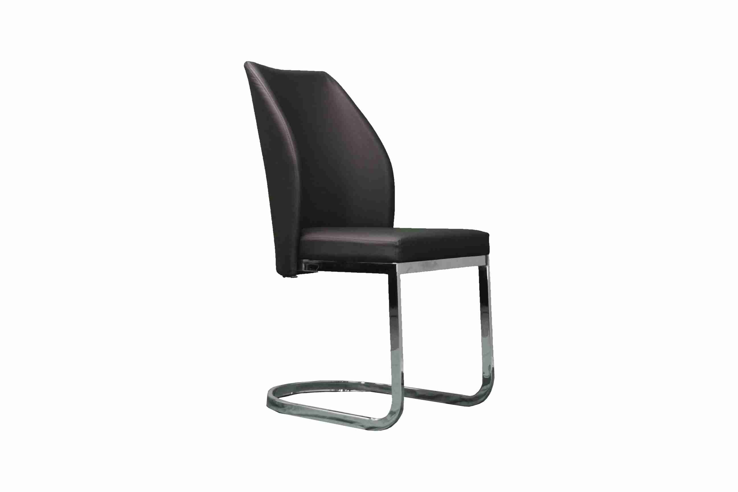 Side Chair PU Leather in Brown  (Set of 2)- UH-955-BR