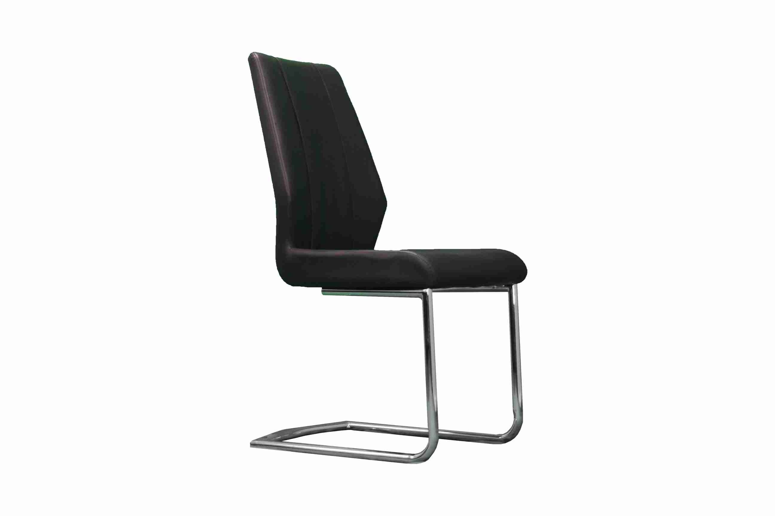Side Chair PU Leather in Black (Set of 2)- UH-961-BLK