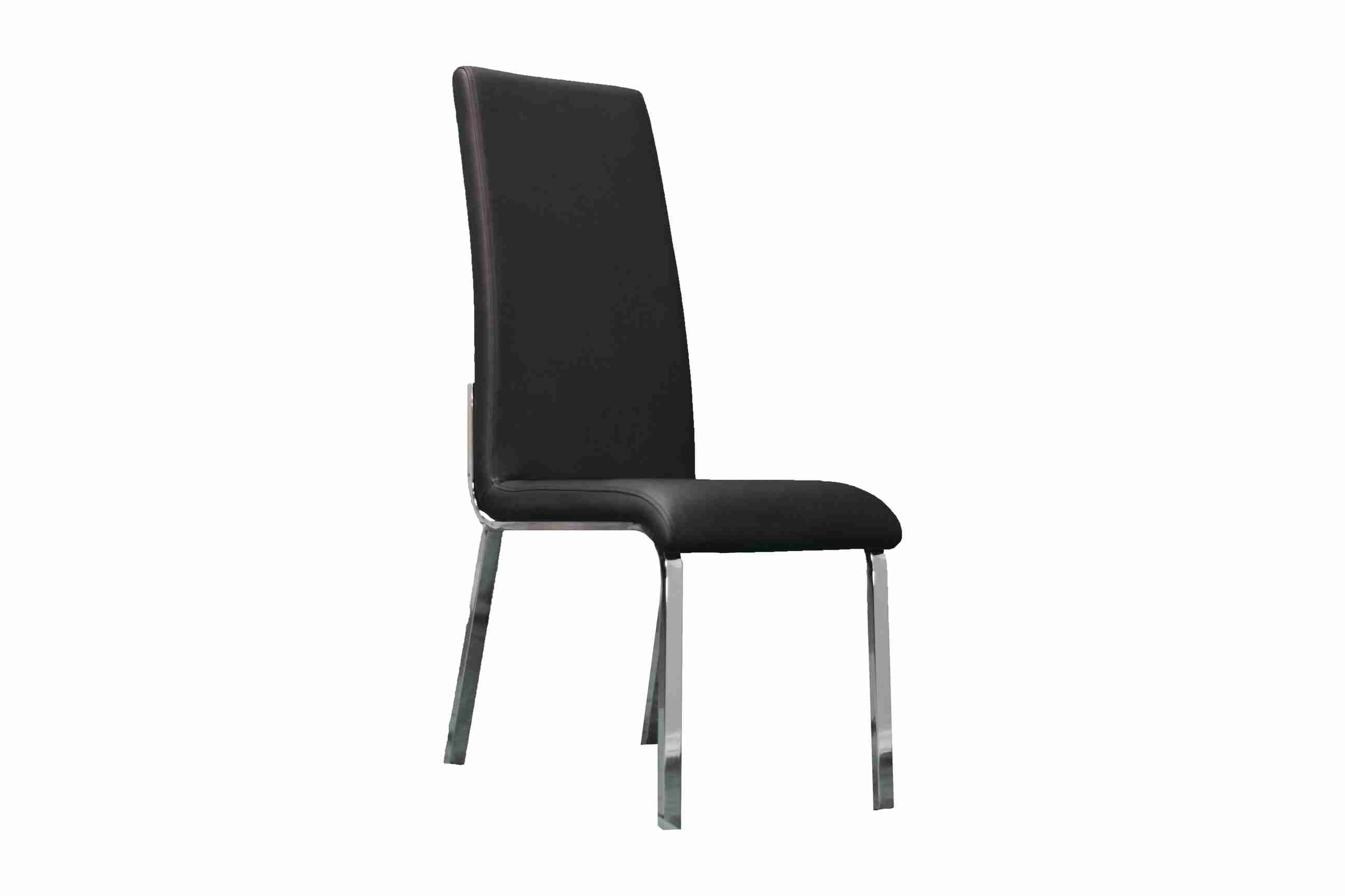 Side Chair PU Leather in Black (Set of 2) -  UH-978-BLK