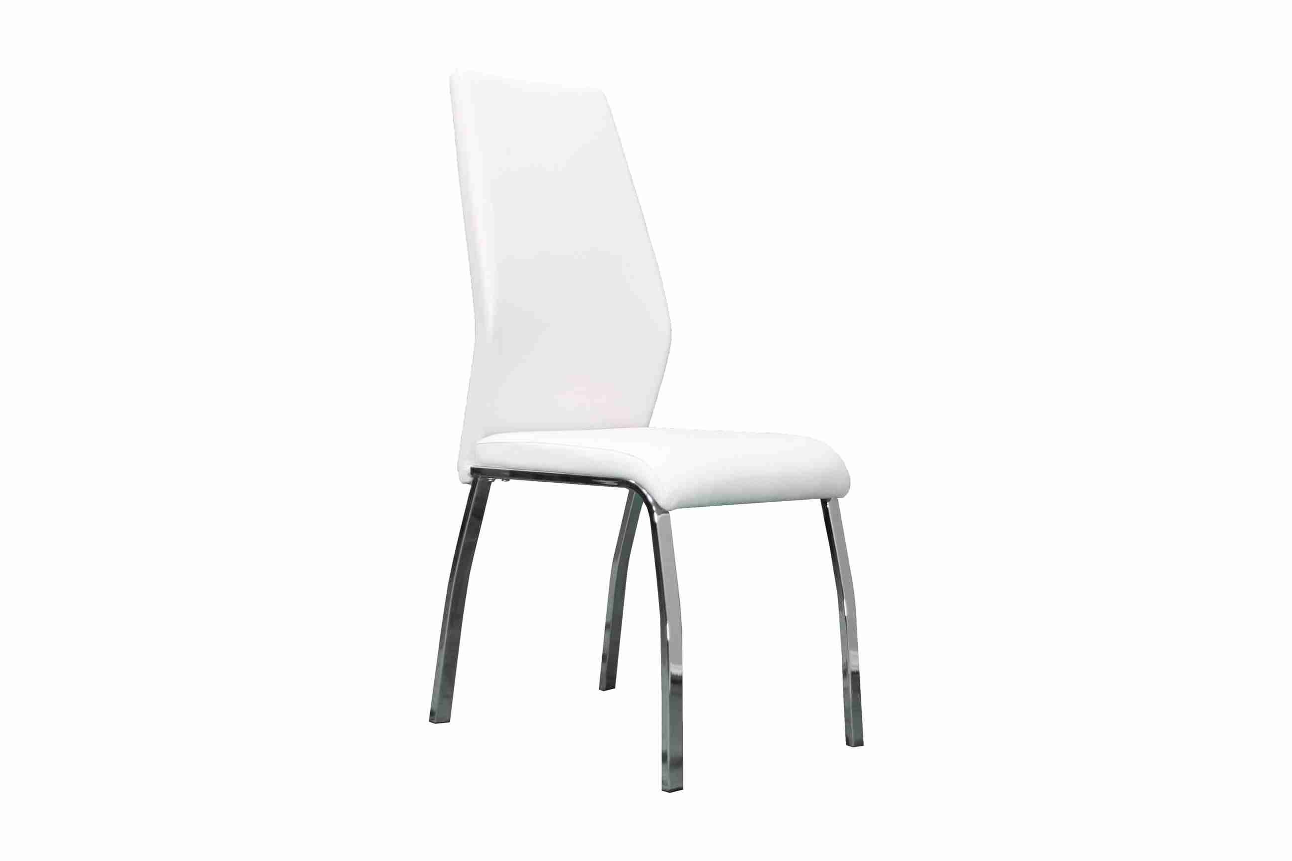 Side Chair PU Leather in White (Set of 2) - UH-983-WH