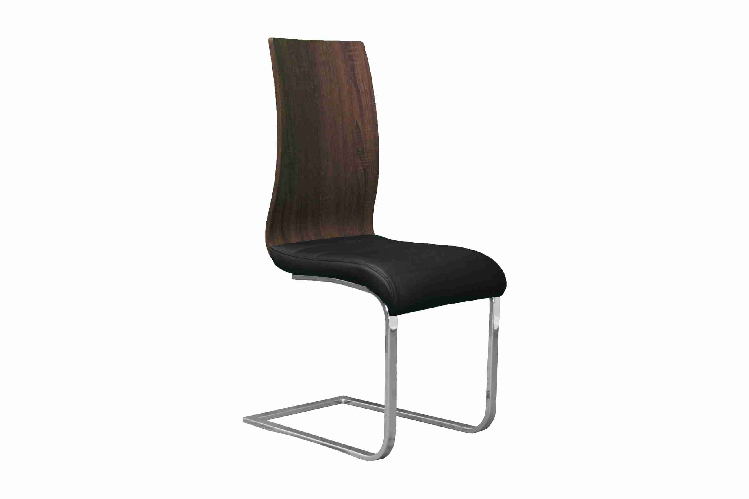 Side Chair Wooden/PVC Leather in Brown/D. Brown & Black (Set of 2) - ITEM # UH-977-BRW/DRK-BRW
