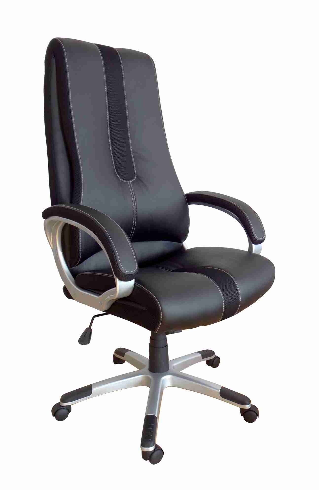 Office, Executive, Leader Chair With Bounded Leather And Adjustable Height-10787