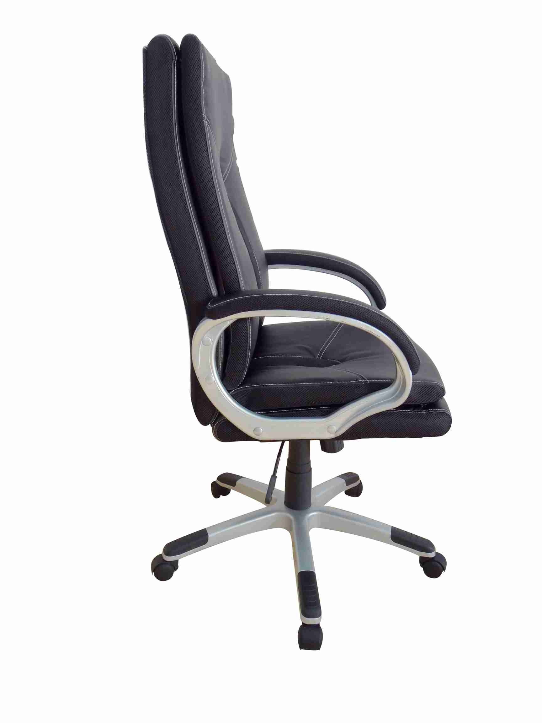 Office, Executive, Leader Chair With Bounded Leather And Adjustable Height-10786
