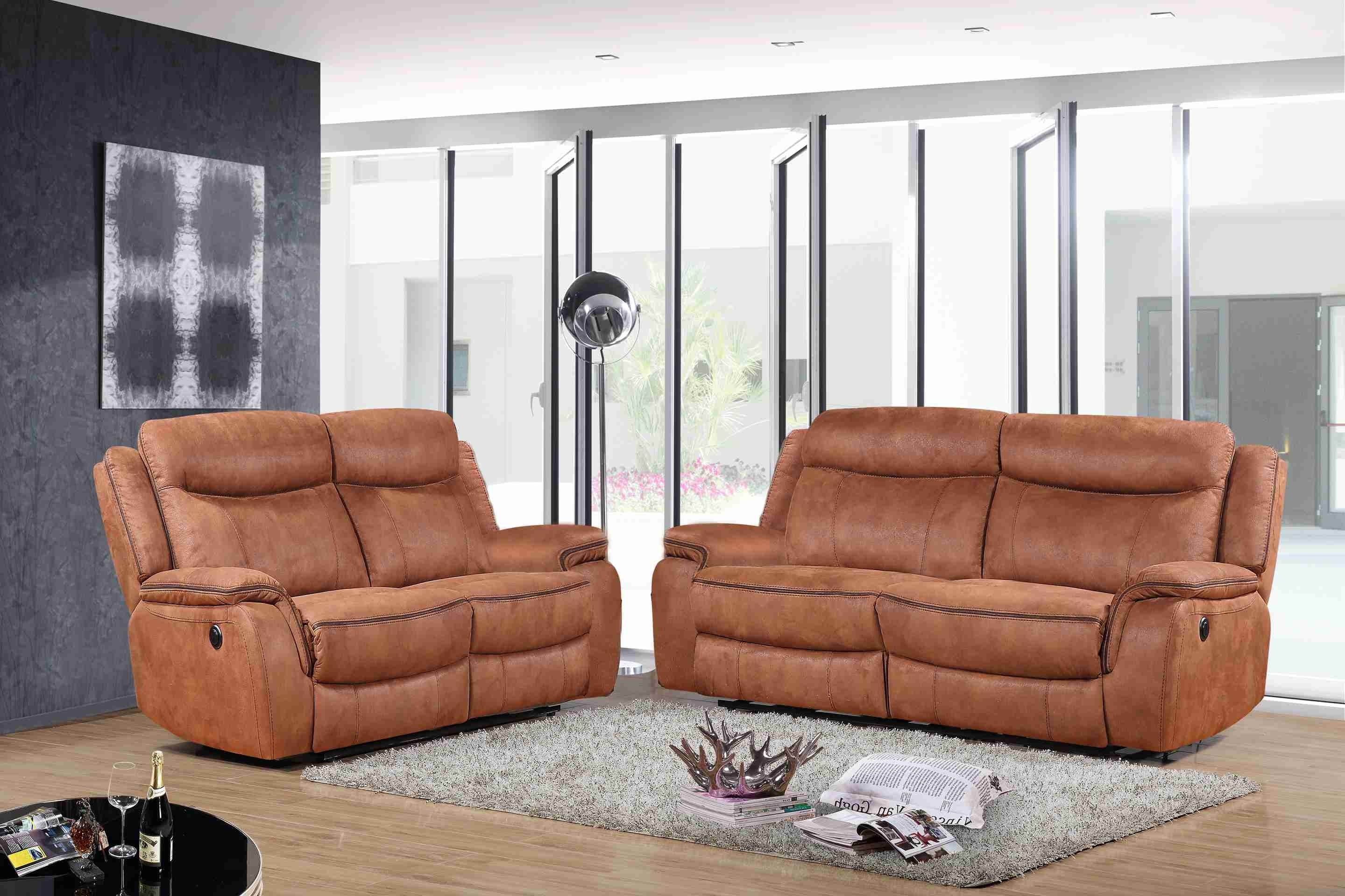 Wondrous 3 Pcs Manual Recliner Sofa Set Hot Stamping Fabric Camel Squirreltailoven Fun Painted Chair Ideas Images Squirreltailovenorg