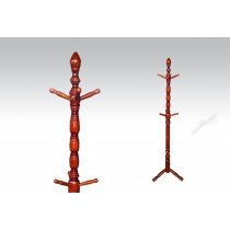 Uhome Design Standing Wood Coat, Hat, Jacket and Dress Rack/ Tree Rack-CH015