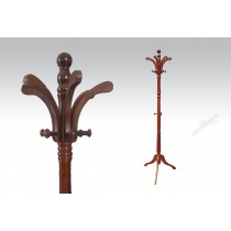 Uhome Design Standing Wood Coat, Hat, Jacket and Dress Rack/ Tree Rack-CH829