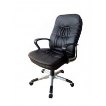 Office, Executive, Leader Chair With Bounded Leather And Adjustable Height- 10614