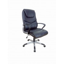 Office, Executive, Leader Chair With Bounded Leather And Adjustable Height-10744