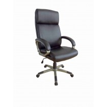 Office, Executive, Leader Chair With Bounded Leather And Adjustable Height-10760