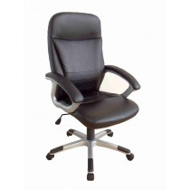 Office, Executive, Leader Chair With Bounded Leather And Adjustable Height-10772