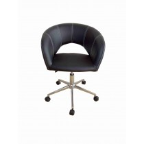 Office, Executive, Leader Chair With Bounded Leather And Adjustable Height-10696BLK