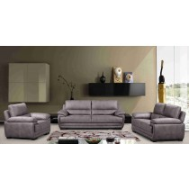 3 Piece Two-Cushion Sofa Set Gray -UH-1615-GRAY