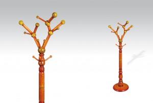 Uhome Design Standing Wood Coat, Hat, Jacket and Dress Rack/ Tree Rack- CH001
