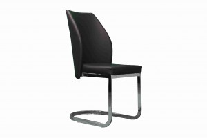 Side Chair PU Leather in Black (Set of 2) -UH-955-BLK