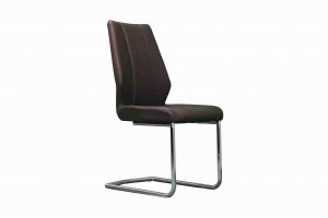 Side Chair PU Leather in Brown (Set of 2)- UH-961-BR