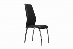 Side Chair PU Leather in Black (Set of 2) - UH-983-BLK